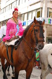 Pélerins à de l'EL Rocio Photos stock