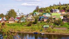Ples η παλαιά ρωσική πόλη στον ποταμό του Βόλγα, Ρωσία Στοκ εικόνα με δικαίωμα ελεύθερης χρήσης