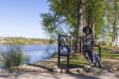 PLES, RUSSIE - 9 MAI : Une sculpture en bronze sur les banques de la Vo Photo libre de droits