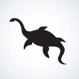 Plesiosaur dinosaur. Vector drawing Stock Photography