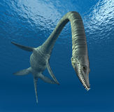 Plesiosaur-Elasmosaurus vektor abbildung