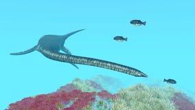 Plesiosaur Elasmosaurus Στοκ Εικόνες