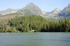 pleso Σλοβακία λιμνών strbske Στοκ Εικόνες