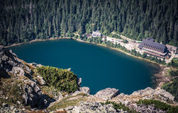 Pleso του Tarn Popradske σε υψηλό Tatras, Σλοβακία Στοκ Εικόνες