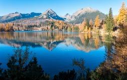 Pleso του Tarn Strbske σε υψηλό Tatras, Σλοβακία Στοκ Εικόνες