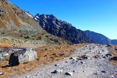 Pleso de Hincovo, Tatras alto, Eslováquia Fotografia de Stock Royalty Free