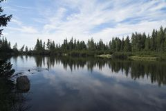 Pleso de Jamske - lac Jamske Photo stock