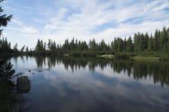 Pleso de Jamske - lago Jamske Foto de archivo