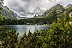 Pleso de Popradske (le Tarn) haut Tatras Photo stock