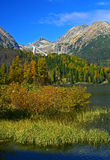 Pleso de Strbske, haut Tatras photographie stock