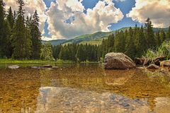 Pleso de Vrbicke, dolina de Demanova, Slovaquie Photo stock