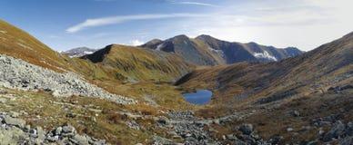Pleso di Horne Jamnicke in montagne ad ovest di Tatra Fotografie Stock Libere da Diritti