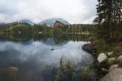 Pleso di Strbske, alti tatras, Slovacchia fotografia stock libera da diritti