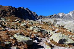 Pleso Hincovo, υψηλό Tatras, Σλοβακία Στοκ Φωτογραφία