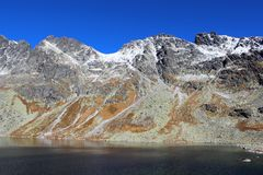 Pleso Hincovo, υψηλό Tatras, Σλοβακία Στοκ Εικόνες