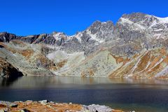 Pleso Hincovo, υψηλό Tatras, Σλοβακία Στοκ εικόνες με δικαίωμα ελεύθερης χρήσης