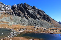 Pleso Hincovo, υψηλό Tatras, Σλοβακία Στοκ Φωτογραφίες