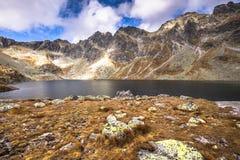 Pleso Hincovo Velke (Wielki Staw Hinczowy) στο Tatras Στοκ Φωτογραφίες