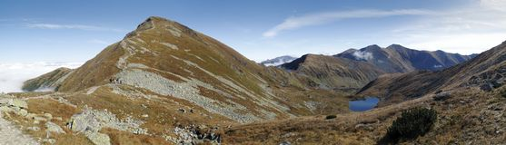 Pleso Jamnicke Horne στα βουνά δυτικού Tatra Στοκ Φωτογραφία