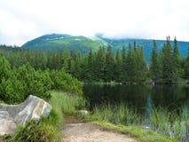 Pleso Jamske λιμνών στα βουνά Tatras Στοκ Φωτογραφία