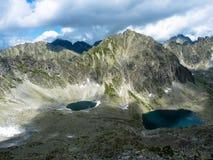 Pleso Okruhle λιμνών και pleso Capie στα βουνά Tatras Στοκ Εικόνες