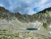 Pleso Okruhle λιμνών στα βουνά Tatras Στοκ Εικόνες