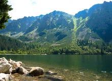 Pleso Popradske λιμνών στα βουνά Tatras Στοκ Φωτογραφίες