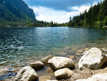 Pleso Popradske λιμνών στα βουνά Tatras Στοκ Εικόνα
