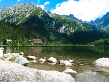 Pleso Popradske λιμνών στα βουνά Tatras Στοκ εικόνα με δικαίωμα ελεύθερης χρήσης