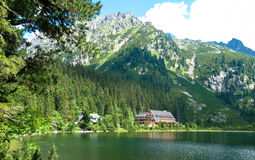 Pleso Popradske λιμνών στα βουνά Tatras Στοκ Φωτογραφία