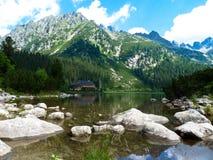 Pleso Popradske λιμνών στα βουνά Tatras Στοκ φωτογραφία με δικαίωμα ελεύθερης χρήσης