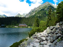 Pleso Popradske λιμνών στα βουνά Tatras Στοκ εικόνες με δικαίωμα ελεύθερης χρήσης