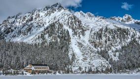 Pleso Popradske ξενοδοχείων βουνών Στοκ Εικόνες