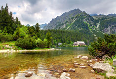 Pleso Popradske - τοπίο βουνών της Σλοβακίας στο καλοκαίρι Στοκ Φωτογραφίες