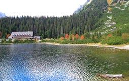 Pleso Popradske - Tarn σε υψηλό Tatras, Σλοβακία Στοκ Φωτογραφίες