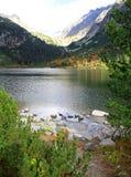 Pleso Popradske - Tarn σε υψηλό Tatras, Σλοβακία Στοκ φωτογραφία με δικαίωμα ελεύθερης χρήσης