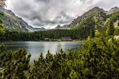 Pleso Popradske (Tarn) υψηλό Tatras Στοκ Εικόνες