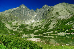 Pleso Skalnate, υψηλό Tatras Στοκ Φωτογραφία