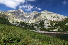 Pleso Skalnate - Tarn στα υψηλά βουνά Tatras, Σλοβακία Στοκ Φωτογραφία