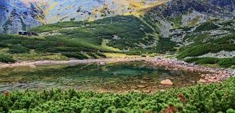 Pleso Skalnate - tarn в высоких горах Tatras Стоковое Изображение