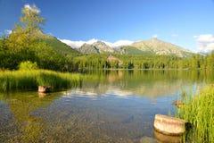 Pleso Strbske λιμνών βουνών στο εθνικό πάρκο υψηλό Tatras Στοκ Εικόνες