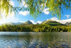 Pleso Strbske λιμνών βουνών, Σλοβακία Στοκ Εικόνες