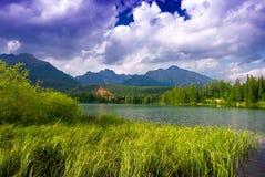 Pleso Strbske λιμνών βουνών, υψηλό Tatras, Σλοβακία Στοκ Εικόνα