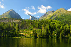 Pleso Strbske λιμνών βουνών Στοκ φωτογραφίες με δικαίωμα ελεύθερης χρήσης