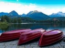 Pleso Strbske λιμνών στα βουνά Tatras Στοκ Φωτογραφίες