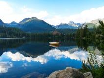 Pleso Strbske λιμνών στα βουνά Tatras Στοκ εικόνα με δικαίωμα ελεύθερης χρήσης