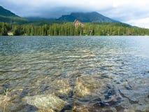 Pleso Strbske λιμνών στα βουνά Tatras Στοκ Φωτογραφία