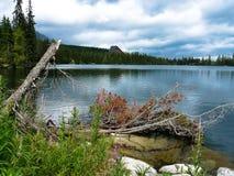 Pleso Strbske λιμνών στα βουνά Tatras Στοκ Εικόνες