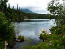 Pleso Strbske λιμνών στα βουνά Tatras Στοκ εικόνες με δικαίωμα ελεύθερης χρήσης
