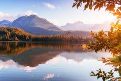 Pleso Strbske λιμνών στο υψηλό βουνό Tatras, Σλοβακία Ευρώπη Στοκ Φωτογραφίες
